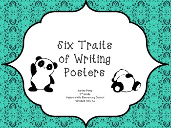 Six Traits of Writing Posters - Pandas