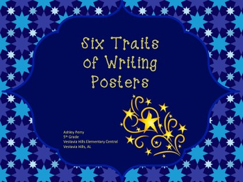 Six Traits of Writing Posters - Star Theme