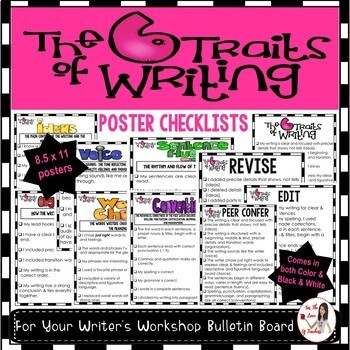 Six Traits of Writing Posters & Student Checklists