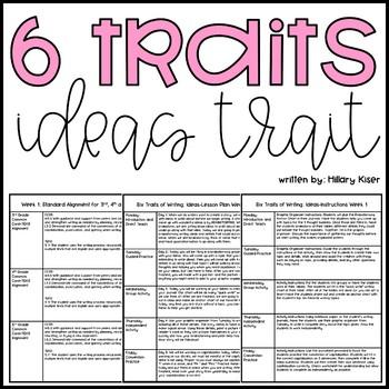Six Traits of Writing Resource Series: Ideas (Grades 3-5)