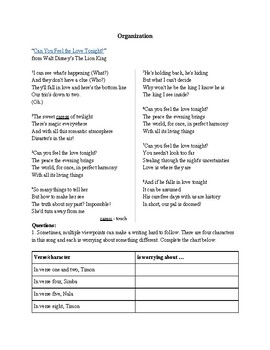 Six Traits of Writing Review with Song Lyrics