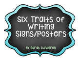 Six Traits of Writing Signs/Posters