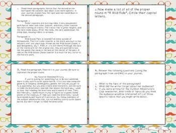Six Traits of Writing TASK CARDS - grade 6+ (Ideas and conventions)