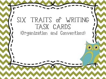 Six Traits of Writing TASK CARDS - grade 4 (Organization a