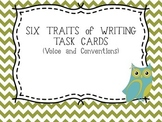 Six Traits of Writing TASK CARDS - grade 4 (voice and conventions)