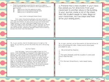 Six Traits of Writing TASK CARDS - grade 6+ (Organization and conventions)