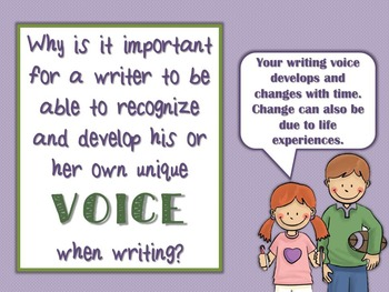 Six-Traits of Writing: Recognizing Your Writer's Voice