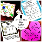 Six Two and Three Digit Addition Activities