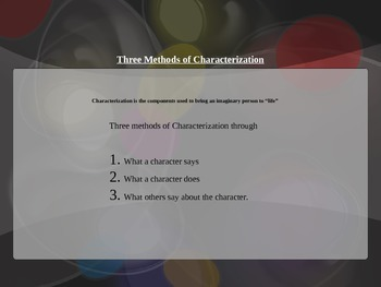 Six Types of Characterization