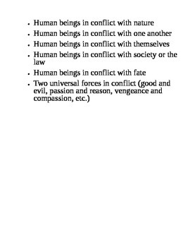 Six Types of Conflict