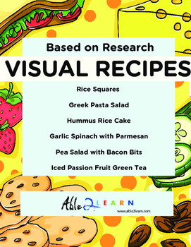 Six Visual Recipes for Youths with Autism/Special Ed Classroom - Mega Pack #13