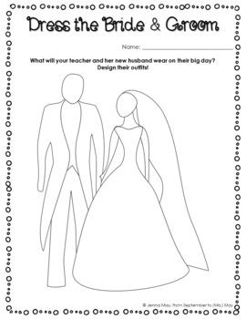 Six Wedding, Bridal Shower NO PREP Center Activities