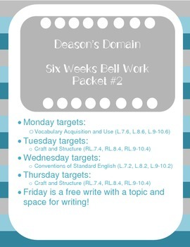 Middle School Bell Ringers Packet #2 (6 Week Supply)