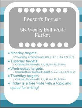 Middle School ELA Bell Ringers (6 Week Supply)