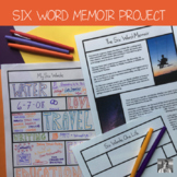 Six Word Memoir (Perfect for first week or Identity Unit)- Distance Learning