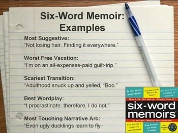 Six-Word Memoir Writing Activity