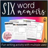 Six Word Memoir Writing Activity