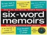 Six Word Memoir Writing Assignment (GOOGLE SLIDES)