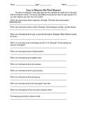 Six Word Memoirs Starter Worksheet
