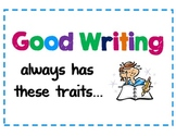 Six Writing Traits Bulletin Board Posters-  Common Core