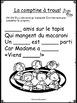 """""""Six amis sur le tapis"""" (Comptine, mots fréquents, atelier"""