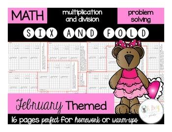 Six and Fold February Themed
