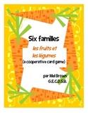Six familles card game - les fruits et les légumes