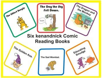 Six Comic  Reading Books