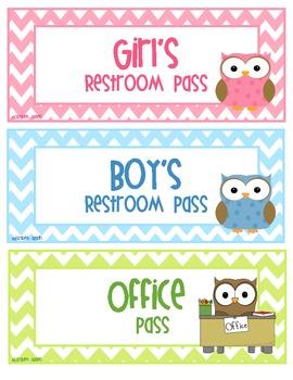 Six owl and chevron hall passes