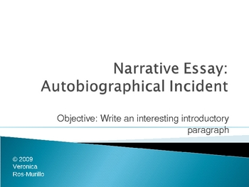 Six types of Autobiographical Essay Introductions
