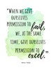 Six watercolor posters with quotes