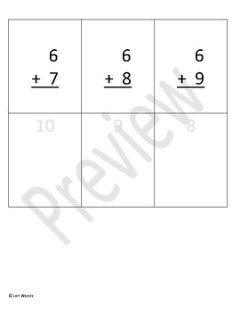 Sixes 6s Addition and Subtraction practice/flashcards (editable)