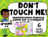 Sixes Times Tables: Don't Touch Me! Multiplication Fact Fluency Game