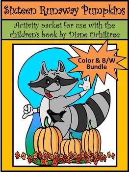 Fall-Pumpkin Activities: Sixteen Runaway Pumpkins Fall Reading Activity Packet