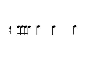 Rhythm Flashcards - sixteenth notes