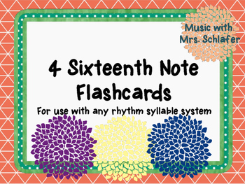 Sixteenth Note Flashcards