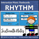 Rhythm Flashcards {Sixteenth Notes} Interactive Rhythm Flash Cards