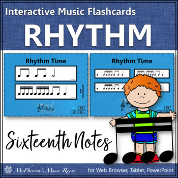 Sixteenth Note - Interactive Rhythm Flash Cards