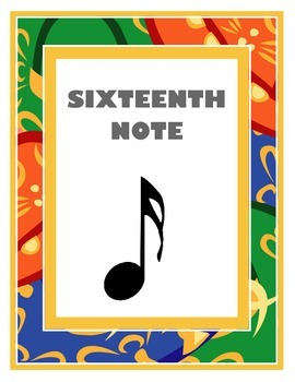 Sixteenth Note Poster