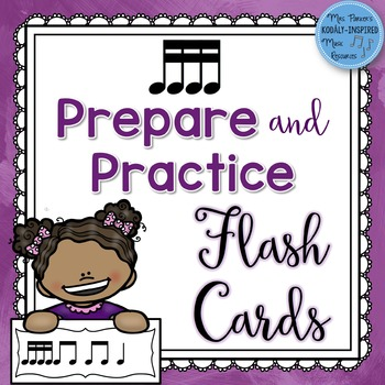 Sixteenth Note Prepare and Practice Flash Cards