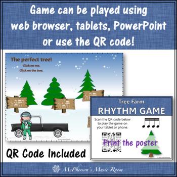 Christmas Music Game: Sixteenth Note Interactive Rhythm Game {Tree Farm}