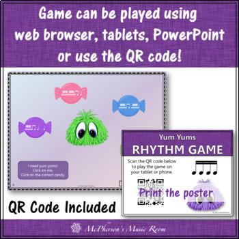 Sixteenth Note Interactive Rhythm Game {Yum Yums}