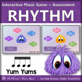Rhythm Sixteenth Notes Interactive Music Game + Assessment {Yum Yums}