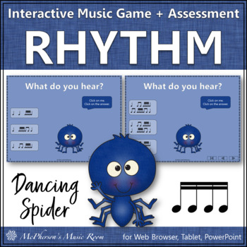 Sixteenth Notes - Dancing Spider {Interactive Music Game & Assessment}