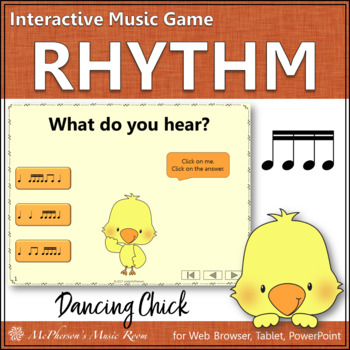 Sixteenth Notes Interactive Music Game {Dancing Chick}