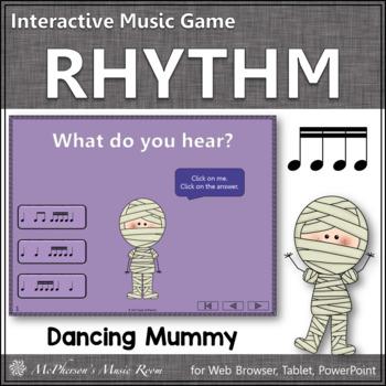 Sixteenth Notes Interactive Rhythm Game {Dancing Mummy}
