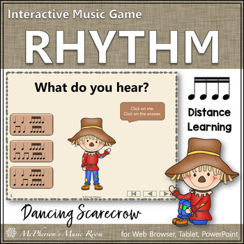 Sixteenth Notes Interactive Rhythm Game {Dancing Scarecrow}