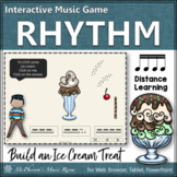 Sixteenth Notes ~ Interactive Rhythm Game {Distance Learning} Ice Cream