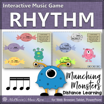 Sixteenth Notes - Munching Monsters - Interactive Rhythm Game
