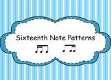 Sixteenth Notes Patterns